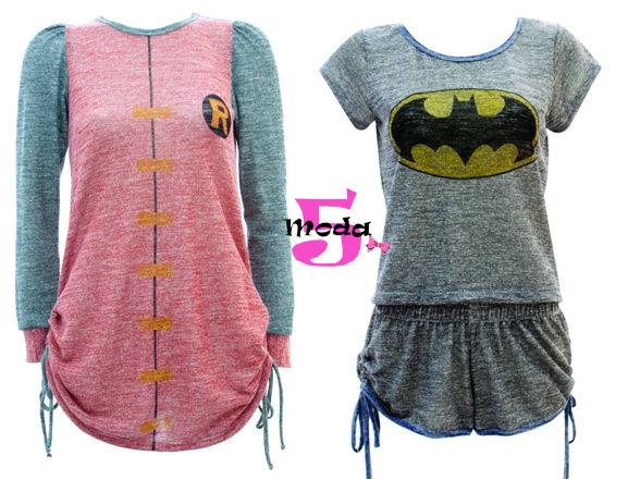 pijamas, dc, warner, batman, super-homem, mulher-maravilha