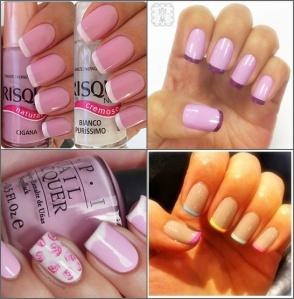 Unhas - rosa e coloridp
